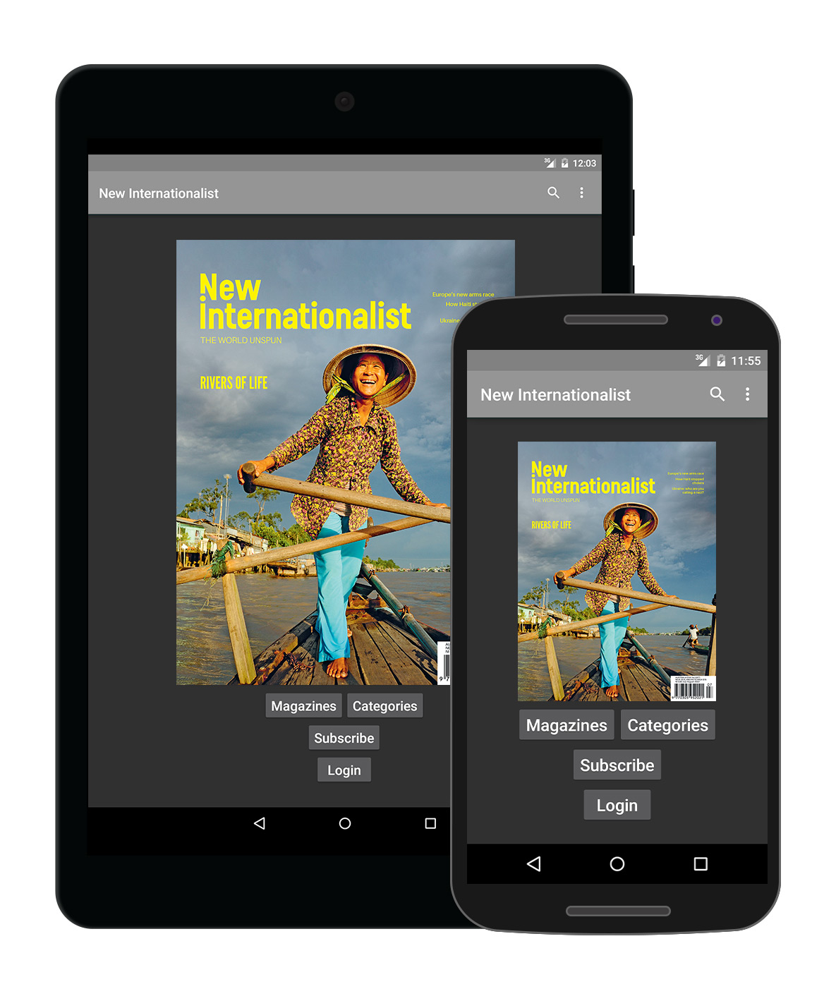 New Internationalist magazine app for Android.