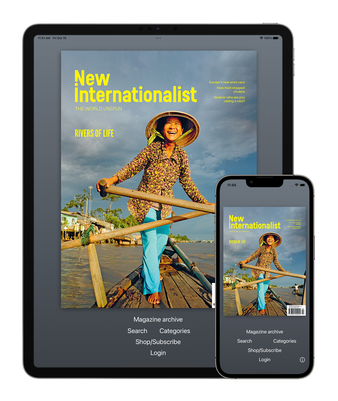 New Internationalist magazine app for iPhone, iPad and iPod Touch.